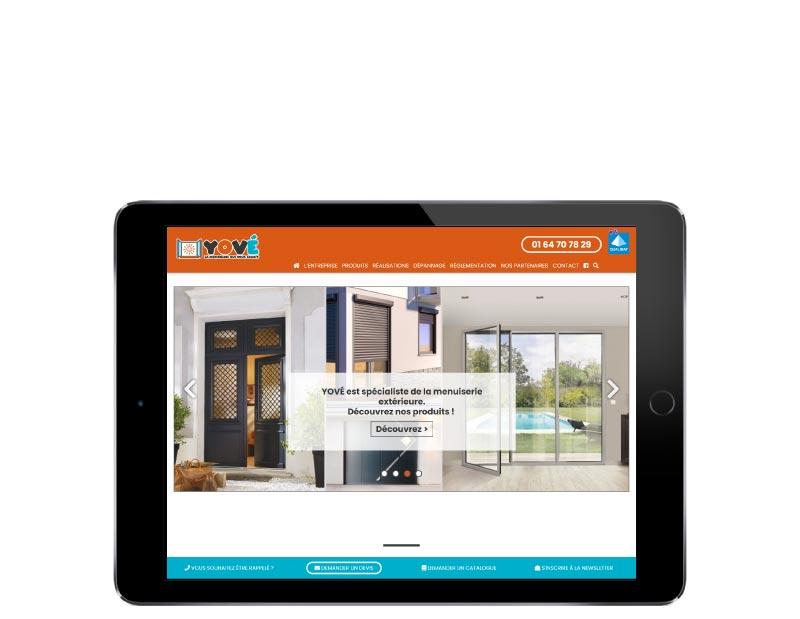REZO 21 développe avec WordPress le site YOVE tablette