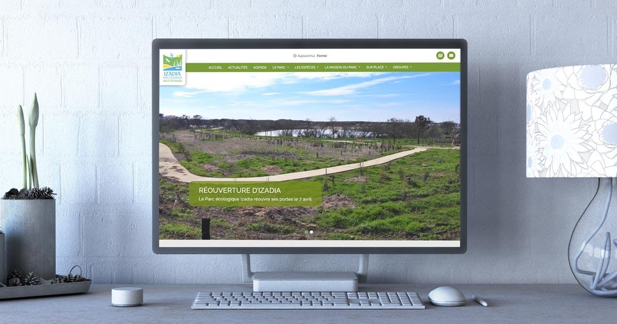Le parc Izadia d'Anglet rouvre ses portes et lance son site Internet avec l'agence web REZO 21