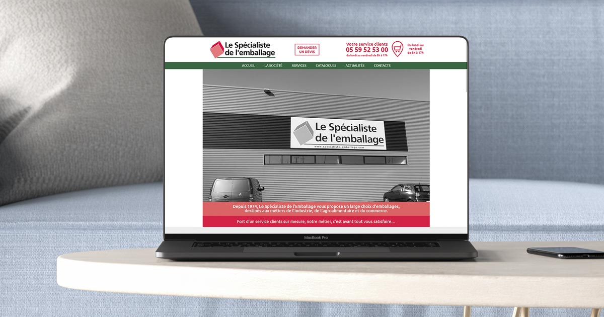 REZO 21 développe le nouveau site web le Spécialiste de l'Emballage