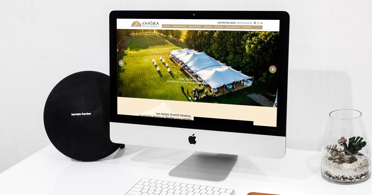 REZO 21 développe le site Internet de Khaïma by Vignaut Location