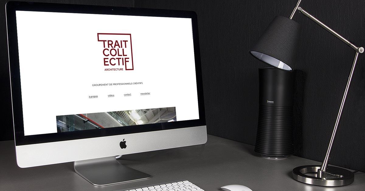 L'agence web REZO 21 conçoit le site Internet de Trait Collectif